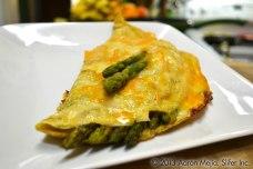 Omelet de Queso y Espárragos